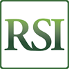 RSI retail mobile app logo, the letters RSI are in green on a white background