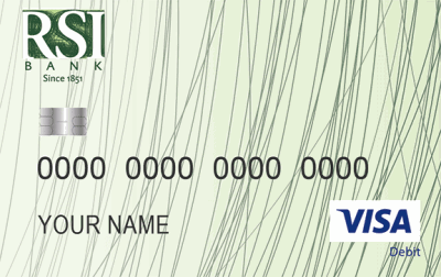 RSI Bank Visa debit card